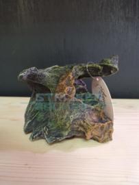 Decoratie kunst steen natuurlijk bruin/groen