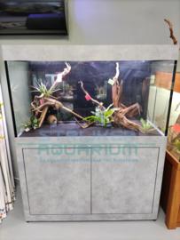 Maatwerk aquarium afgewerkt met Dibond (verbeterde versie van Formica)