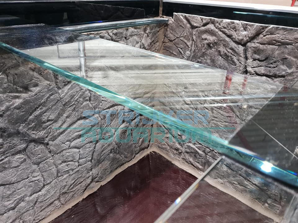 3d achterwand in aquarium monteren