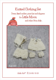 Knitting Pattern, Dress, fitted Undies, pixie Hat and slippers.