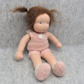 Knitting Pattern, Dress with round Yoke, fitted Undies and Booties