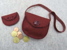 Viltpatroon, schoentjes, tasje en portemonneetje