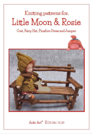 Knitting Pattern, Coat, Fairy hat, pinafore dress and jumper.