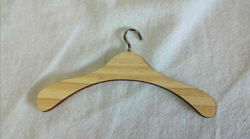 Kleding Hangertje 10cm, 5 stuks.