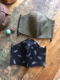 mondkapje linnen #8 dusty green