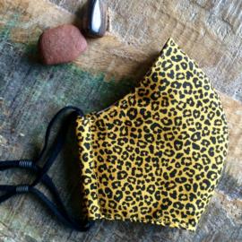 mondkapje leopard ocre