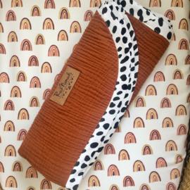 ➳ Cognac Dots - Soft Baby Blanket