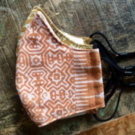 mondkapje Hmong fabric orange