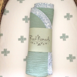 ➳ Sea Green & Blue Grey - Soft Baby Blanket