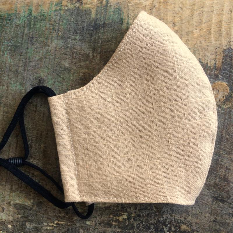 mondkapje linnen sand