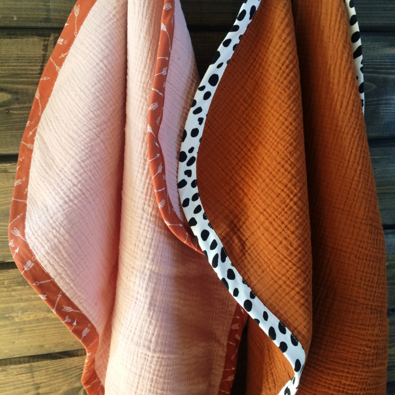➳ Soft Pink Rust Arrows - Soft Baby Blanket