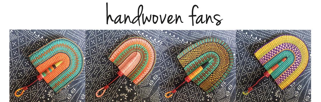 header handwoven fans button