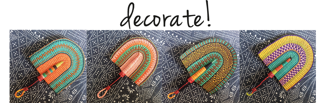 Decorate | handwoven fans |Bolgatanga fans