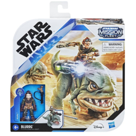 Star Wars Mission Fleet Expedition Class Kuiil with Blurrg