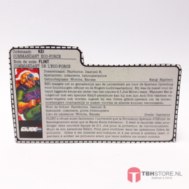 G.I. Joe File Card Flint