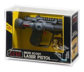 PRE-ORDER Star Wars ROTJ Kenner Biker Scout Pistol Acrylic Display Case