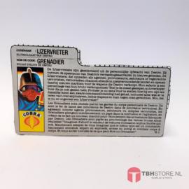 G.I. Joe File Card IJzervreter / Grenadier