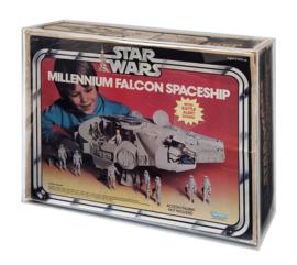 PRE-ORDER KENNER Star Wars ESB ROTJ Millennium Falcon Acrylic Display Case