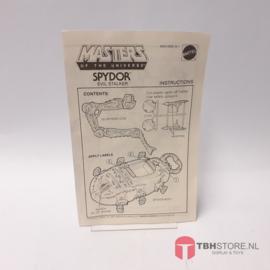 MOTU Masters of the Universe Spydor Evil Stalker  Instructions / Instructies