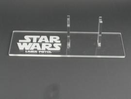 Vintage Han Solo Laser Pistol/Blaster Display Stand - Left Facing