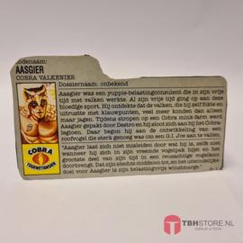 G.I. Joe File Card Aasgier