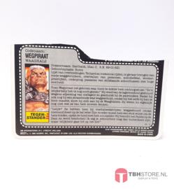G.I. Joe File Card Road Pig
