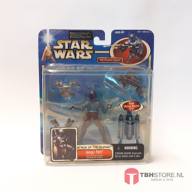 Star Wars Attack of the Clones Jango Fett with Electronic Jetpack