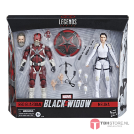 Black Widow Marvel Legends 2-Pack Red Guardian & Melina