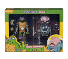Teenage Mutant Ninja Turtles (TMNT) 2-Pack Donatello vs Krang in Bubble Walker 18 cm