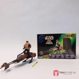 Star Wars POTF2 Green:  Speederbike met doos