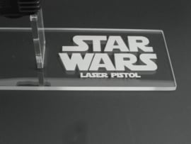 Vintage Han Solo Laser Pistol/Blaster Display Stand - Right Facing