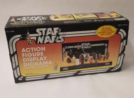 Star Wars action figure display diorama
