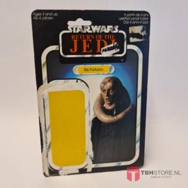 Vintage Star Wars Cardback Bib Fortuna ROTJ