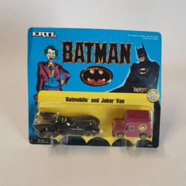 Batman Batmobile and Joker Van