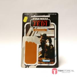 Vintage Star Wars Cardback Rebel Commando ROTJ 65 back