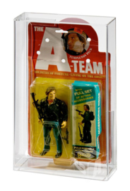 PRE-ORDER Vintage GALOOB A-Team Carded Figure Acrylic Display Case