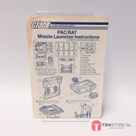 G.I. Joe PAC/RAT Missile Launcher Instructies