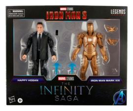 The Infinity Saga Marvel Legends Action Figure 2-Pack 2021 Happy Hogan & Iron Man (Iron Man 3)
