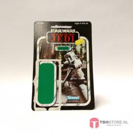 Vintage Star Wars Cardback Biker Scout 65 back
