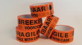 Tape met tekst Breekbaar / Fragile