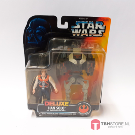 Star Wars POTF2 Red Deluxe Han Solo with Smuggler Flight Pack
