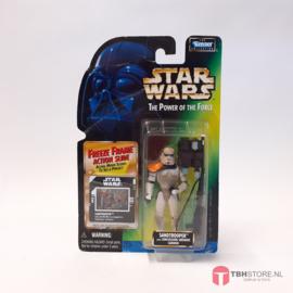 Star Wars POTF2 Green: Sandtrooper (Freeze Frame)