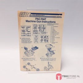 G.I. Joe PAC/RAT Machine Gun Instructies