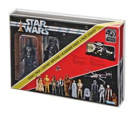 Black Series Darth Vader Legacy Pack Acrylic Display Case (Black Series 40th Anniversary)