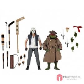 Teenage Mutant Ninja Turtles (TMNT) 2-Pack Casey Jones & Raphael in Disguise KAPOTTE VERPAKKING