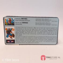 G.I. Joe File Card Obstakel