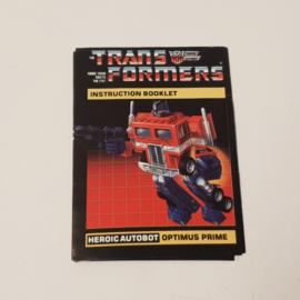 Transformers Optimus Prime Instructions