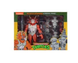 PRE-ORDER Teenage Mutant Ninja Turtles 3-Pack Triceraton Infantryman & Roadkill Rodney