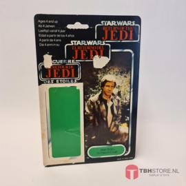 Vintage Star Wars Cardback Han Solo Trench Coat Tri-Logo