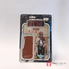 Vintage Star Wars Cardback Prune Face ROTJ 79 back Clipper